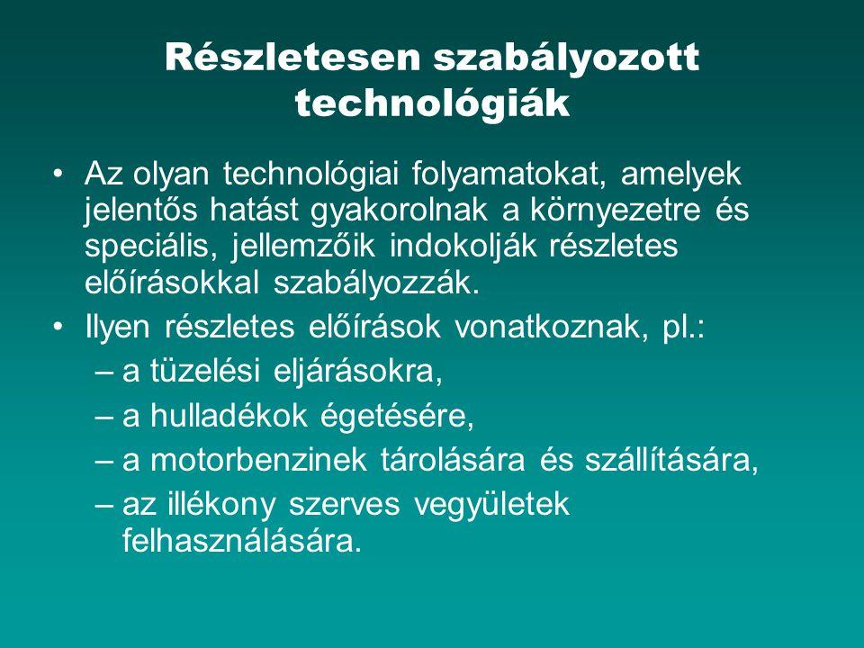 Részletesen szabályozott technológiák