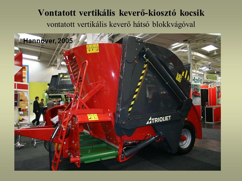 Vontatott vertikális keverő-kiosztó kocsik vontatott vertikális keverő hátsó blokkvágóval