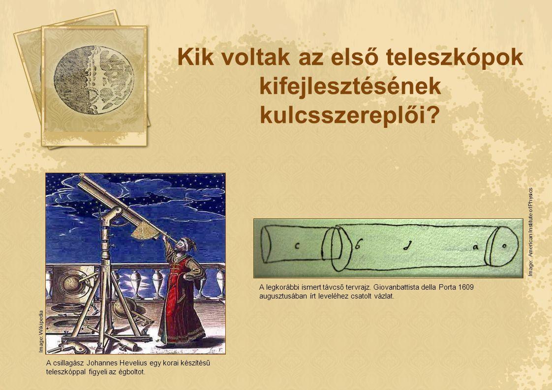 Kik voltak az első teleszkópok kifejlesztésének kulcsszereplői