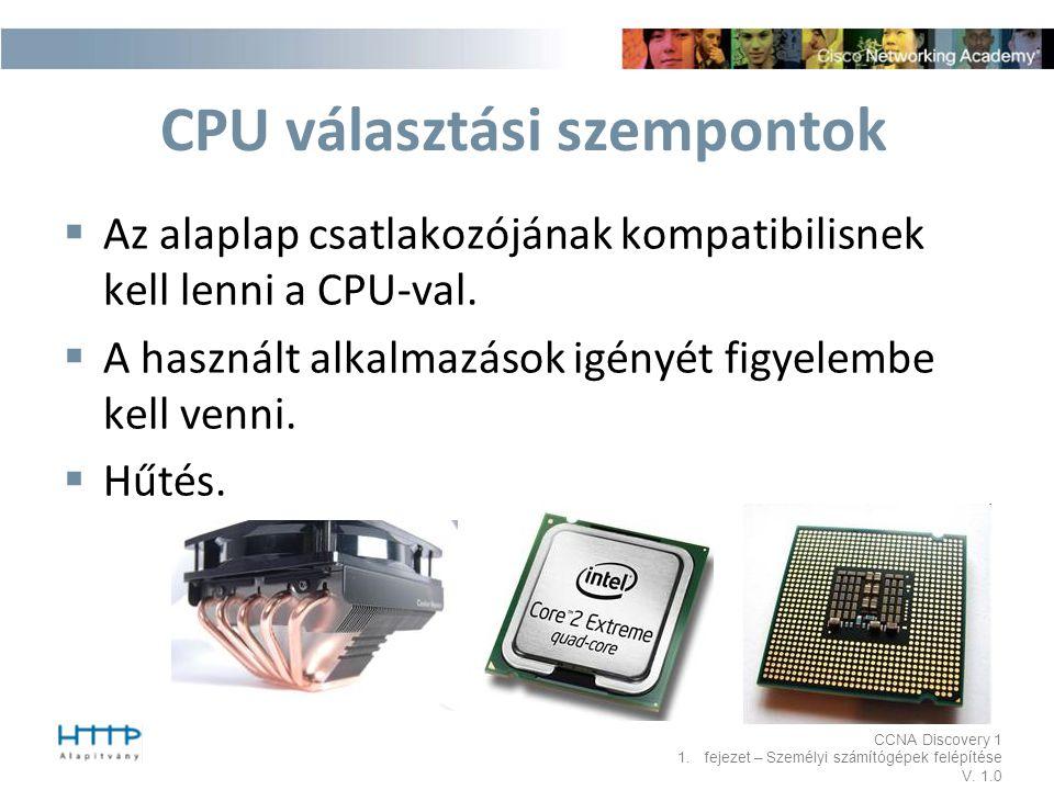 CPU választási szempontok