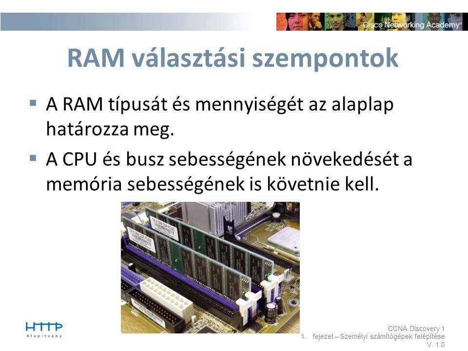 RAM választási szempontok