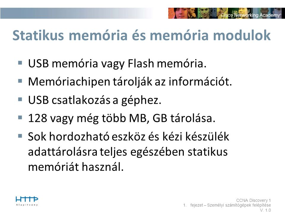 Statikus memória és memória modulok