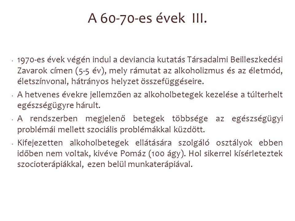 A 60-70-es évek III.