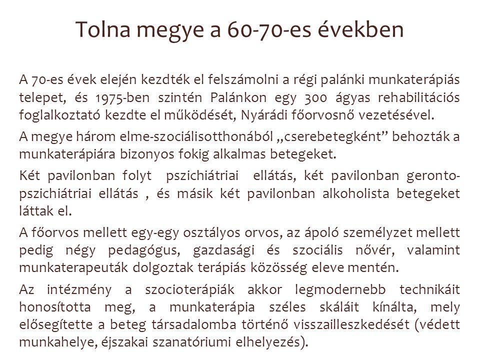 Tolna megye a 60-70-es években