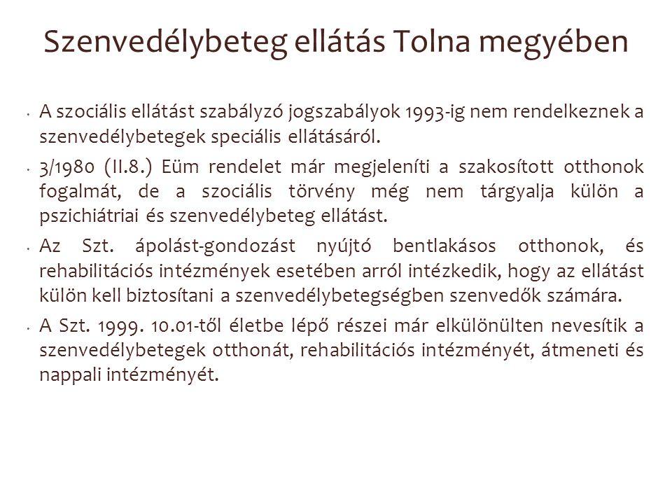 Szenvedélybeteg ellátás Tolna megyében