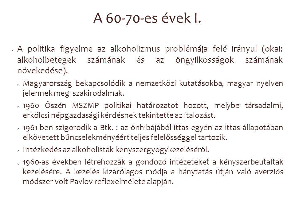 A 60-70-es évek I.