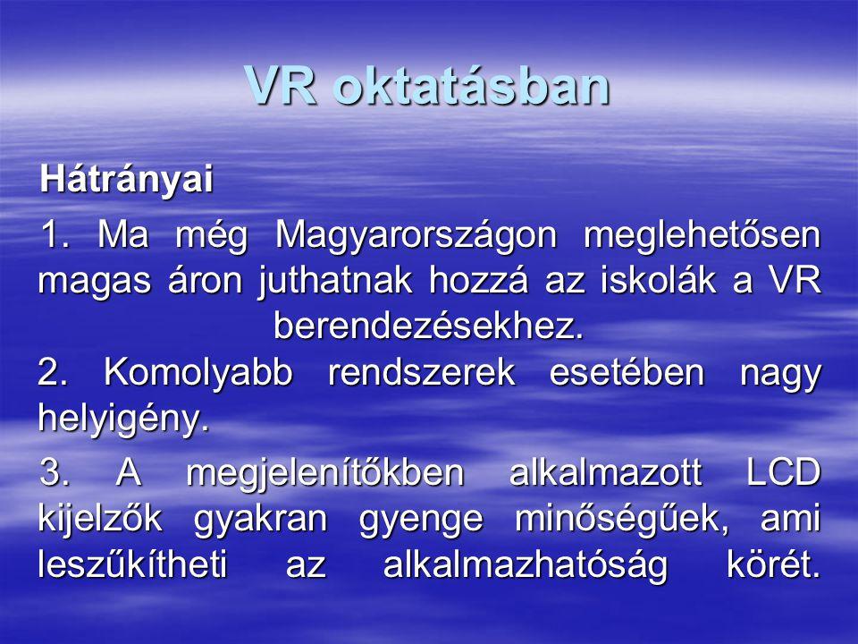 VR oktatásban Hátrányai