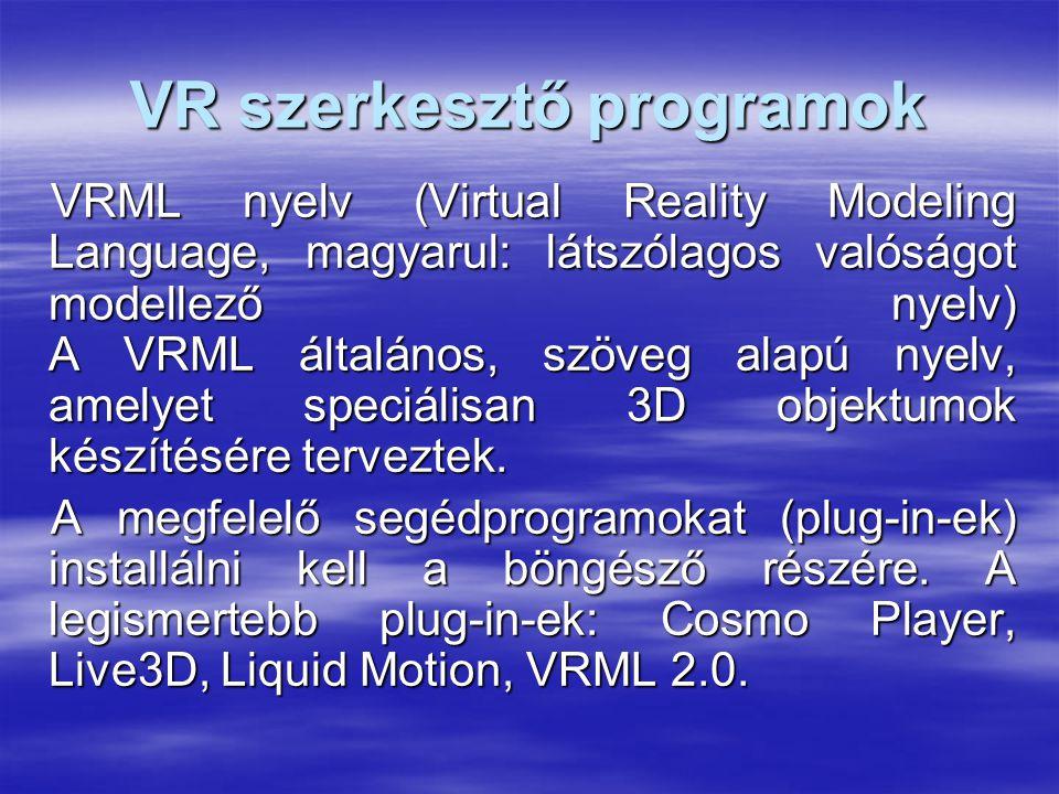 VR szerkesztő programok
