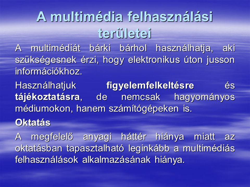 A multimédia felhasználási területei