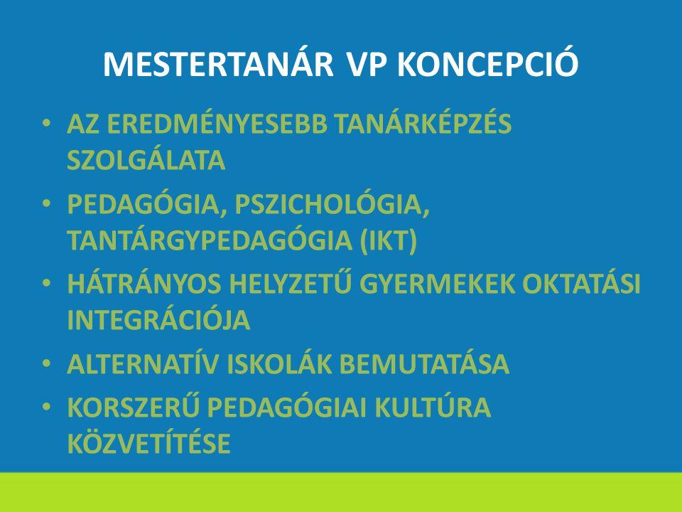MESTERTANÁR VP KONCEPCIÓ