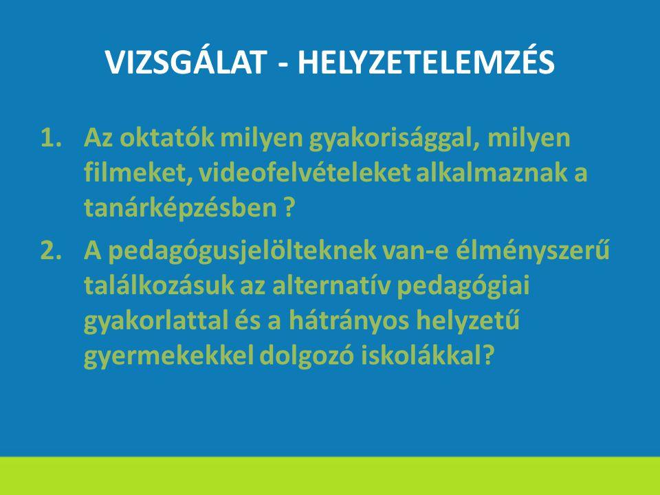 VIZSGÁLAT - HELYZETELEMZÉS