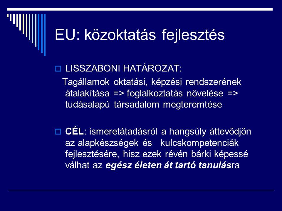 EU: közoktatás fejlesztés
