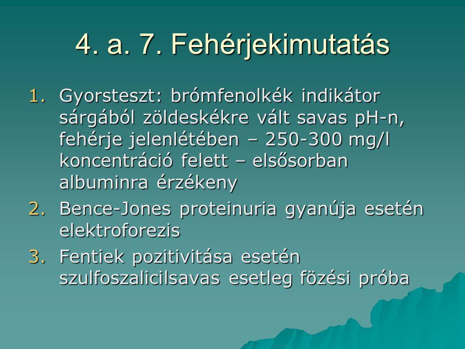 4. a. 7. Fehérjekimutatás