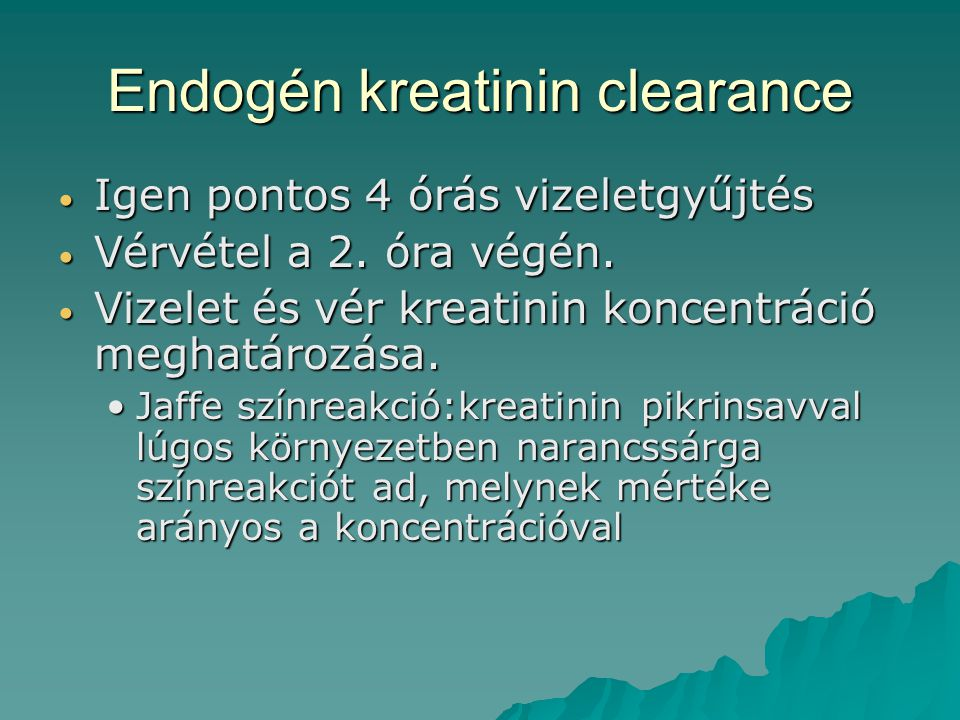 Endogén kreatinin clearance