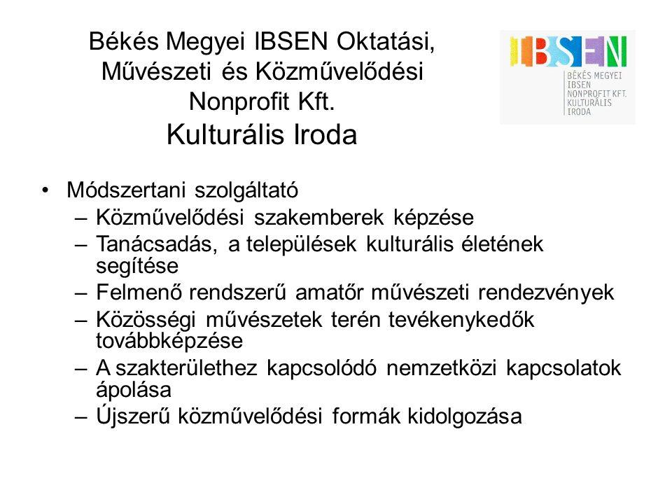 Békés Megyei IBSEN Oktatási, Művészeti és Közművelődési Nonprofit Kft