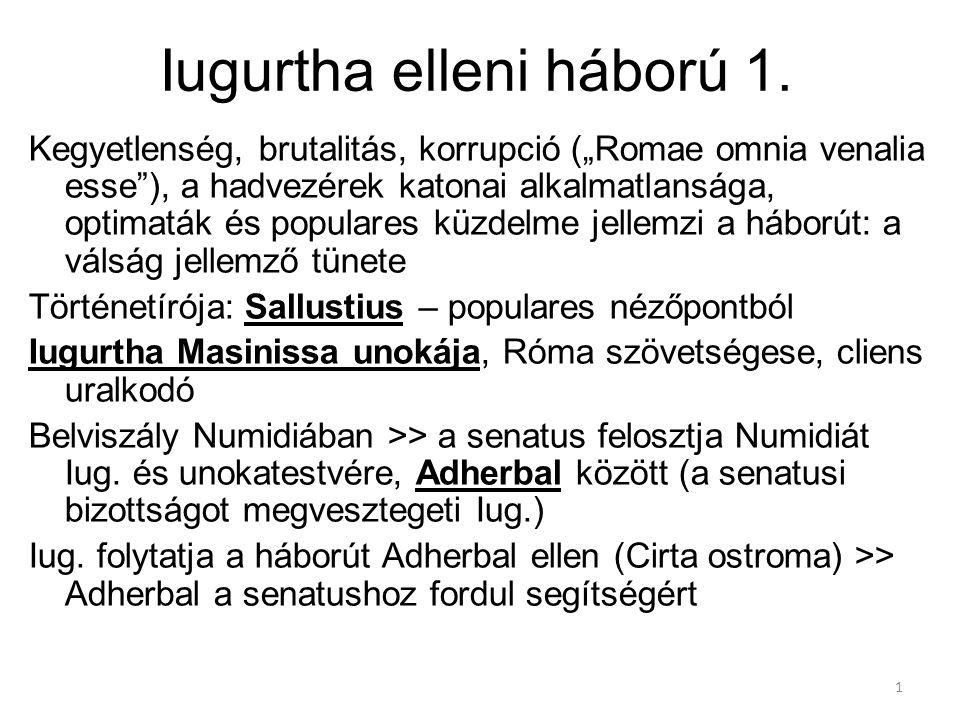 Iugurtha elleni háború 1.