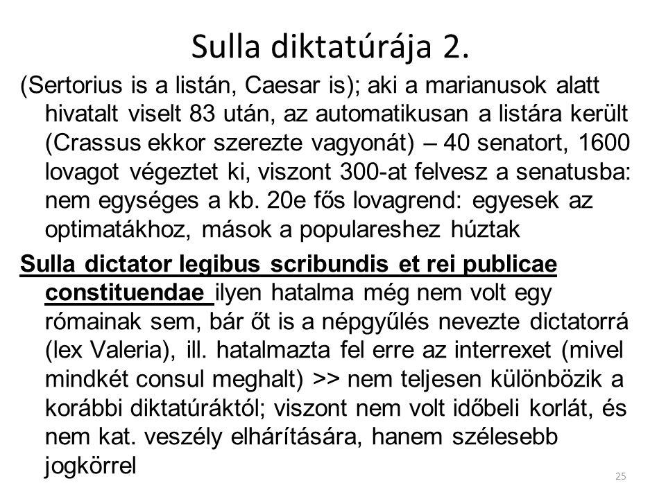 Sulla diktatúrája 2.