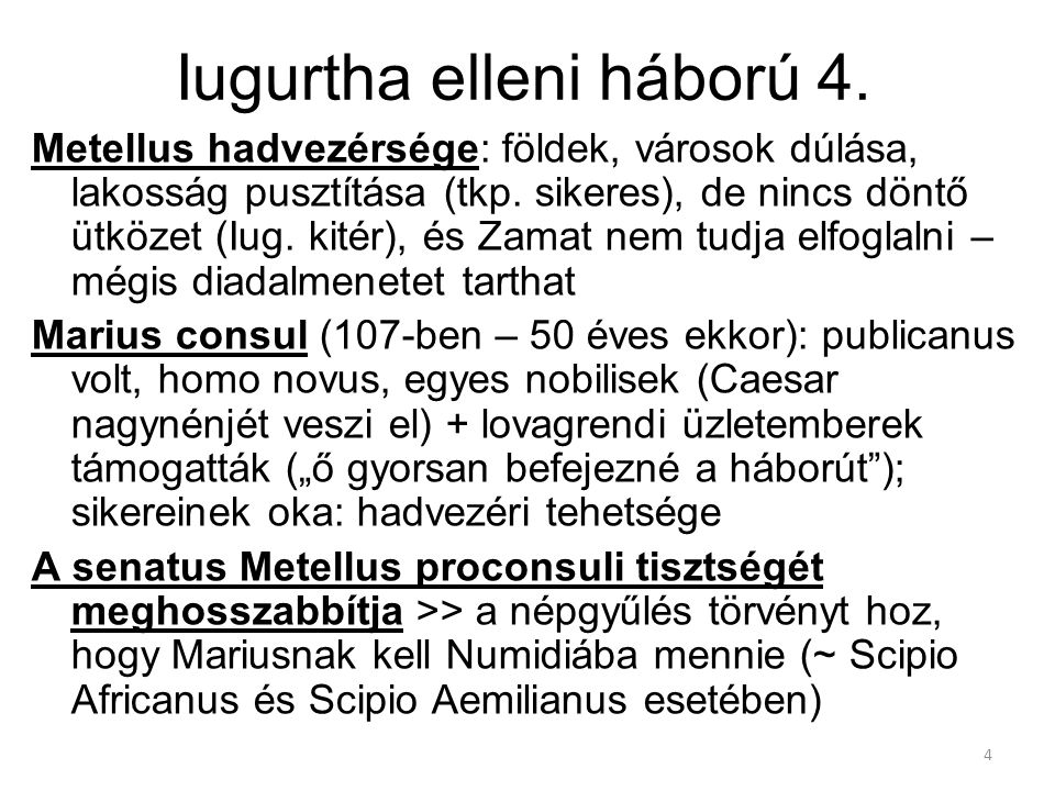 Iugurtha elleni háború 4.
