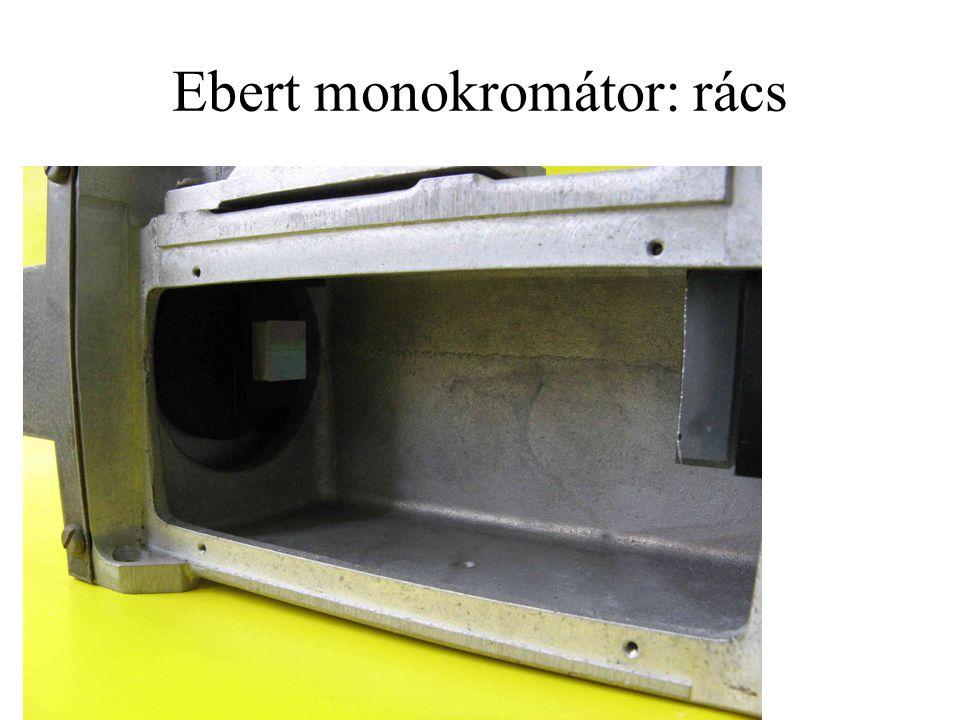 Ebert monokromátor: rács