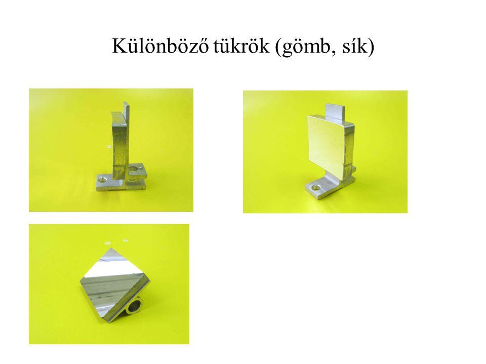 Különböző tükrök (gömb, sík)