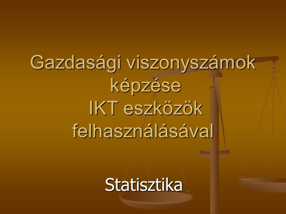 Gazdasági viszonyszámok képzése IKT eszközök felhasználásával