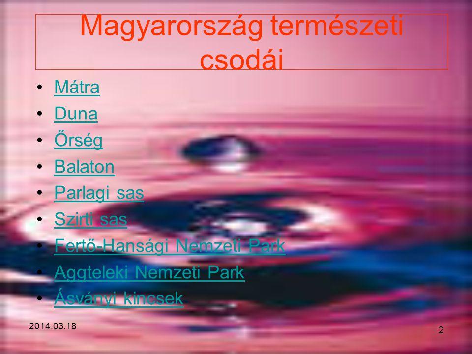 Magyarország természeti csodái