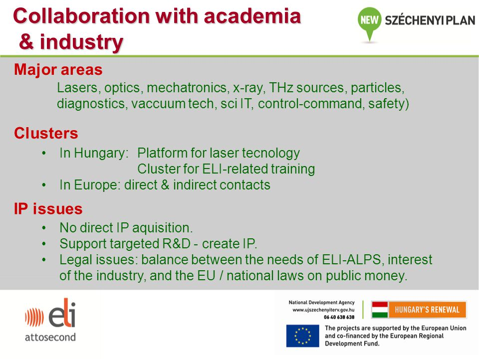 Collaboration with academia & industry
