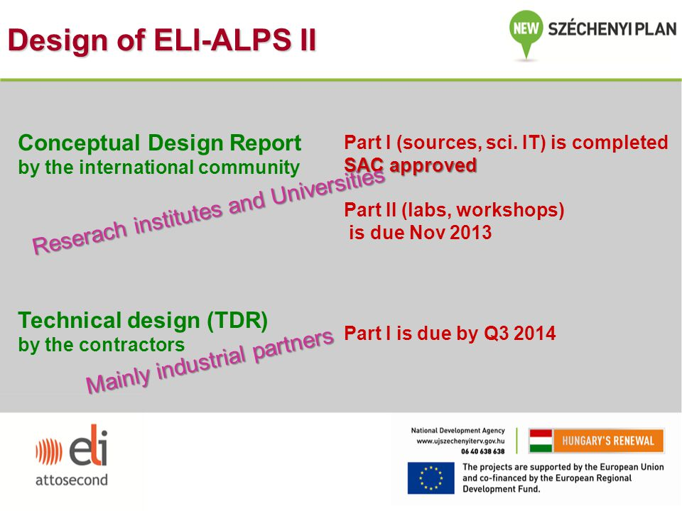 Design of ELI-ALPS II Conceptual Design Report
