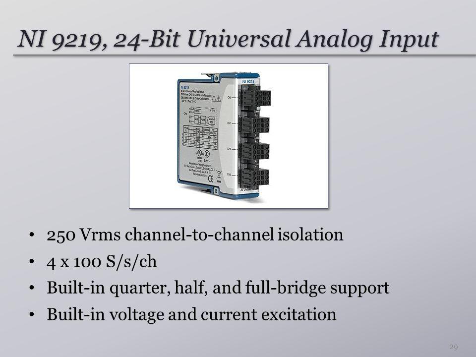 NI 9219, 24-Bit Universal Analog Input