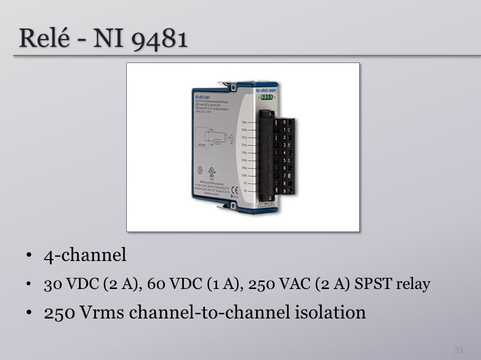 Relé - NI 9481 4-channel 250 Vrms channel-to-channel isolation
