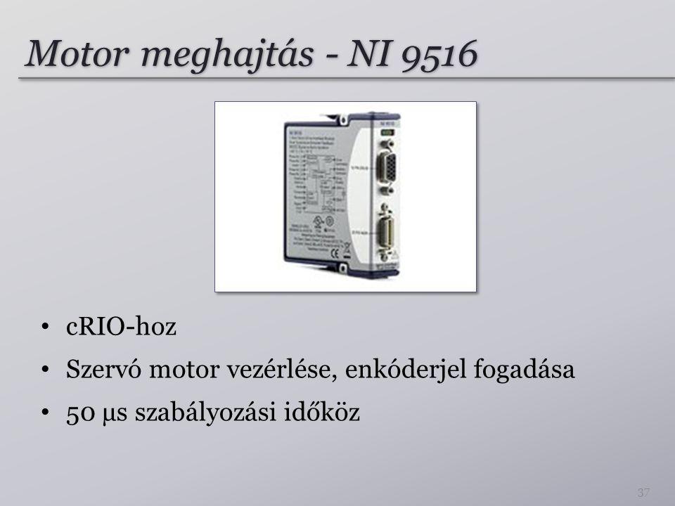 Motor meghajtás - NI 9516 cRIO-hoz