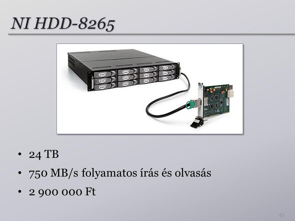 NI HDD-8265 24 TB 750 MB/s folyamatos írás és olvasás 2 900 000 Ft