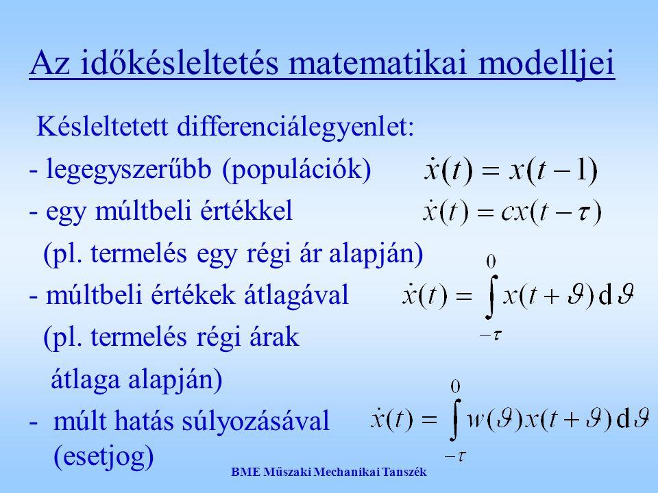 Az időkésleltetés matematikai modelljei