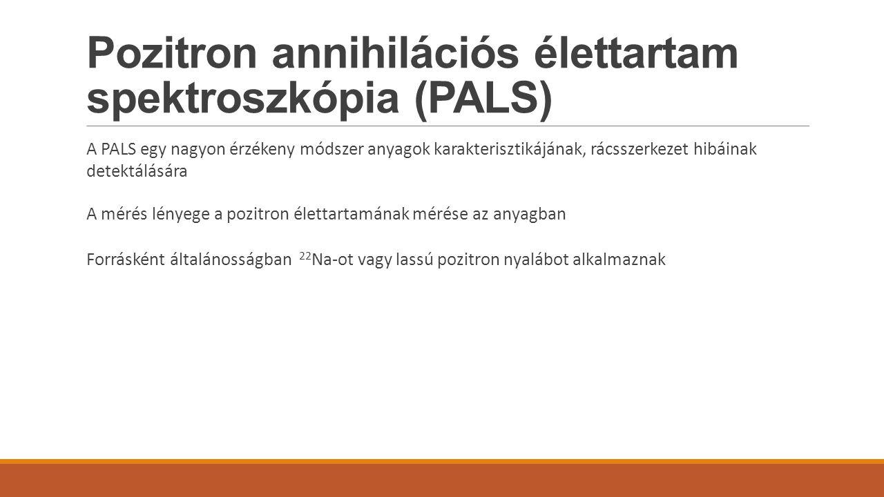 Pozitron annihilációs élettartam spektroszkópia (PALS)