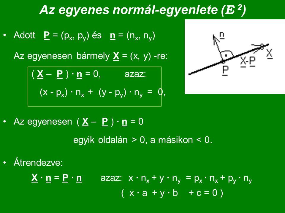 Az egyenes normál-egyenlete (E 2)