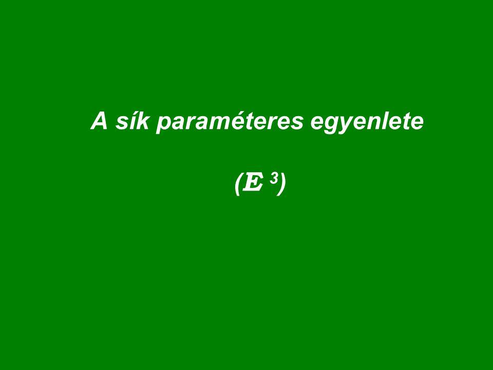 A sík paraméteres egyenlete (E 3)