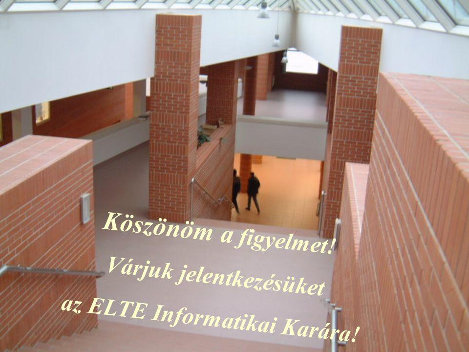 Várjuk jelentkezésüket az ELTE Informatikai Karára!