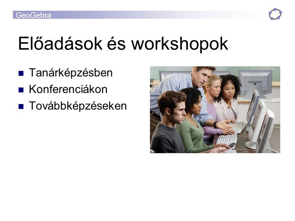 Előadások és workshopok