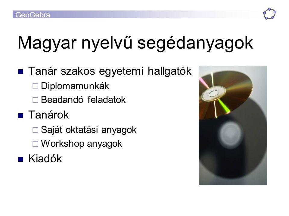Magyar nyelvű segédanyagok