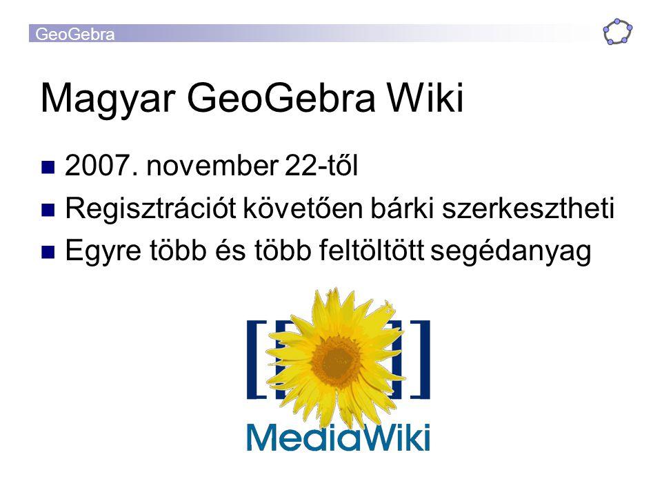 Magyar GeoGebra Wiki 2007. november 22-től
