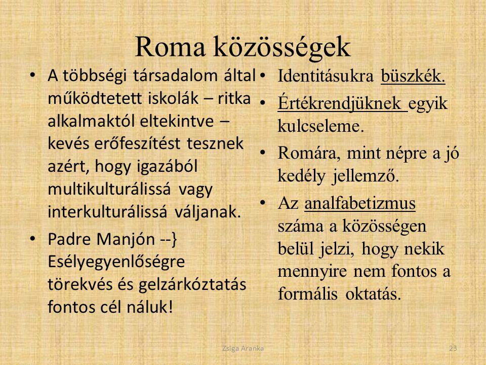 Roma közösségek