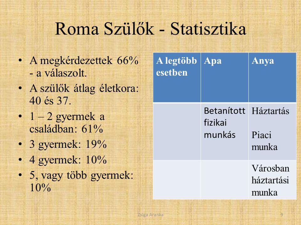 Roma Szülők - Statisztika