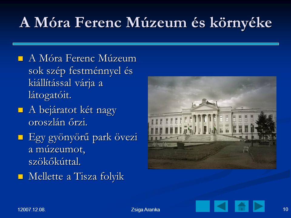 A Móra Ferenc Múzeum és környéke