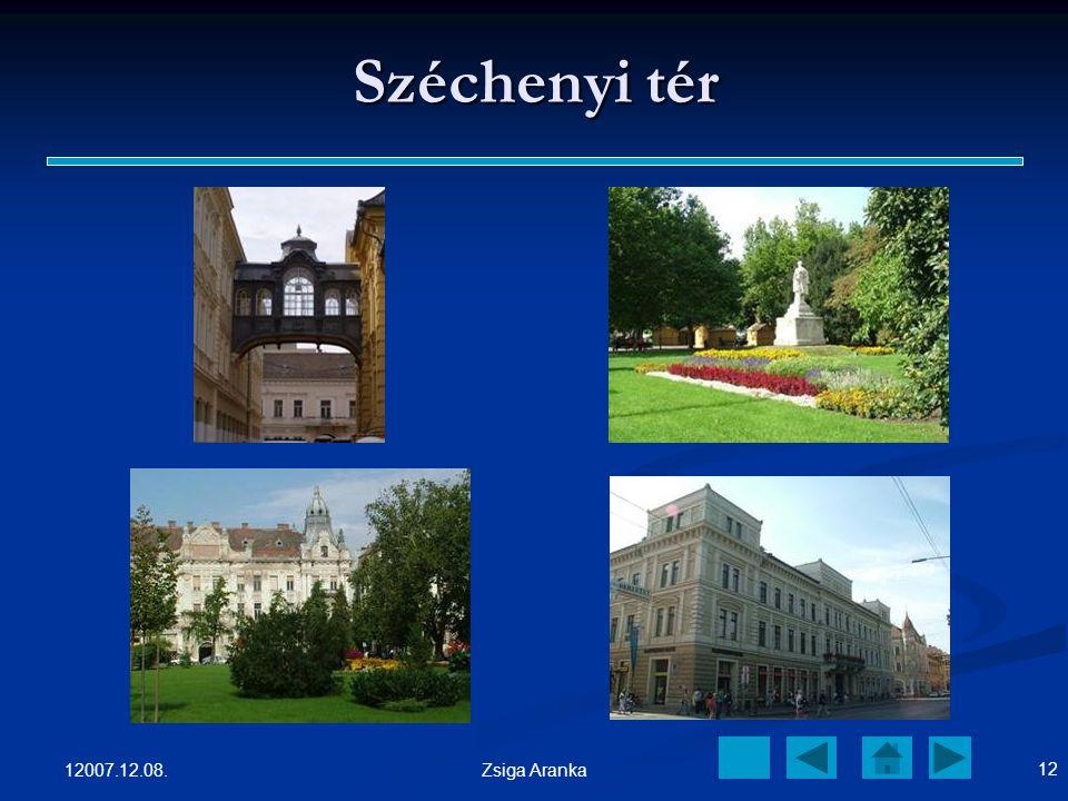 Széchenyi tér 12007.12.08. Zsiga Aranka