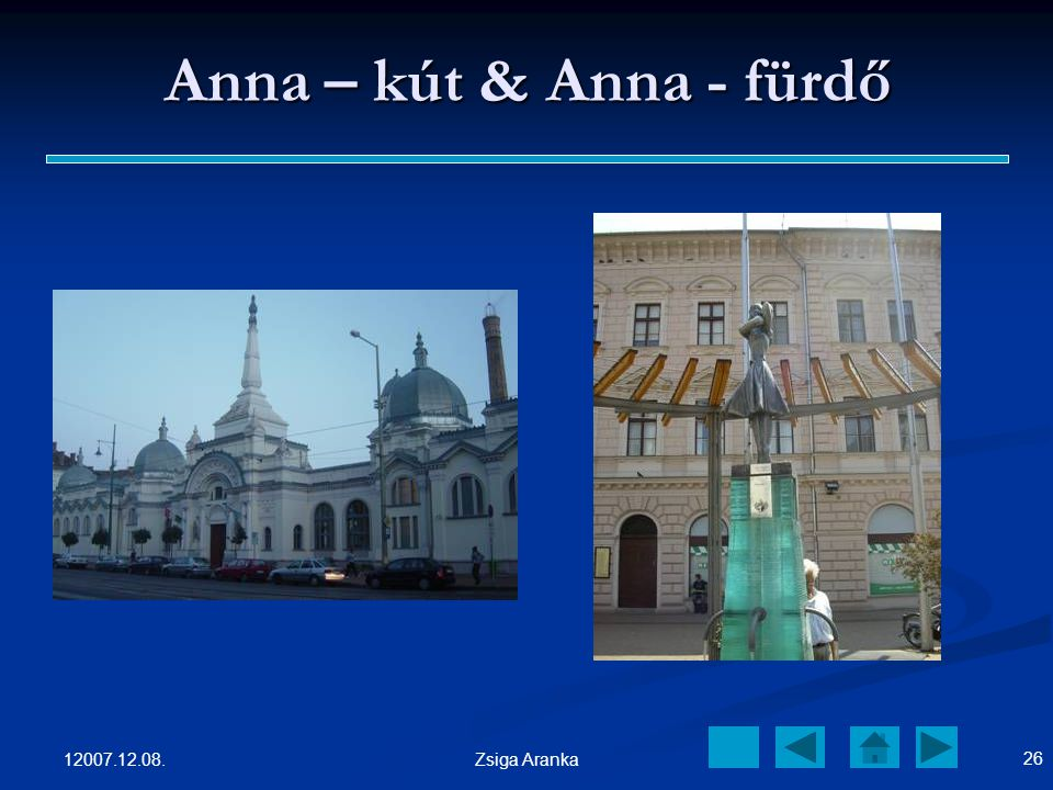 Anna – kút & Anna - fürdő 12007.12.08. Zsiga Aranka