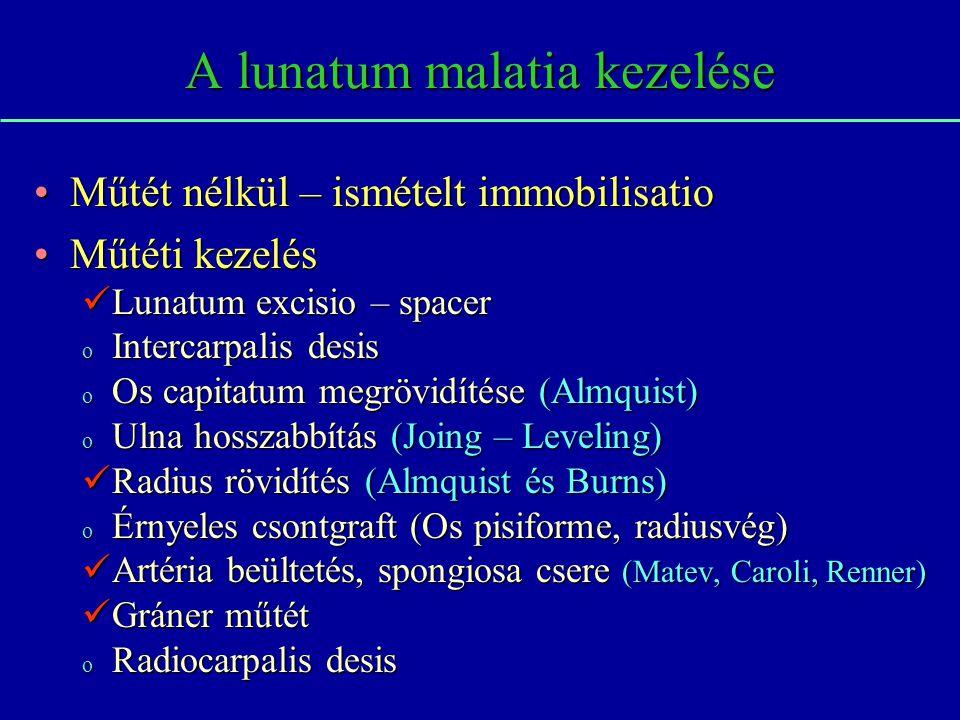 A lunatum malatia kezelése