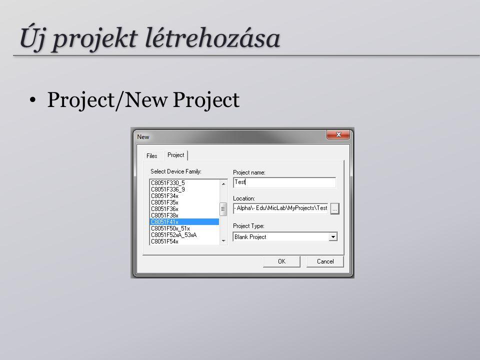Új projekt létrehozása