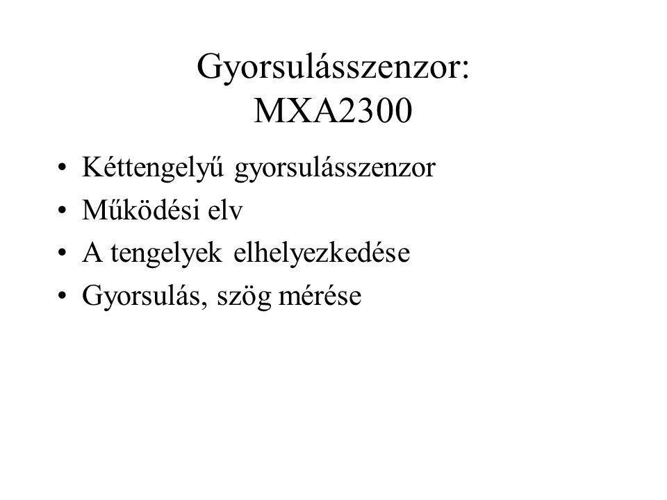 Gyorsulásszenzor: MXA2300
