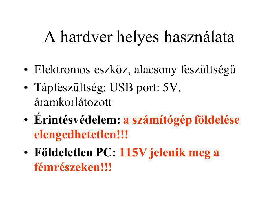 A hardver helyes használata
