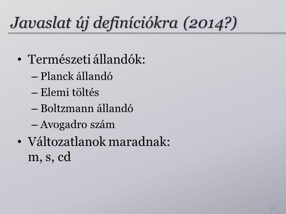 Javaslat új definíciókra (2014 )